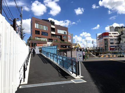 下北沢駅中央口横(井の頭線側)にスロープが完成!