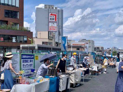 下北沢大学「手づくり市」、整備中の駅前広場を囲んで開催