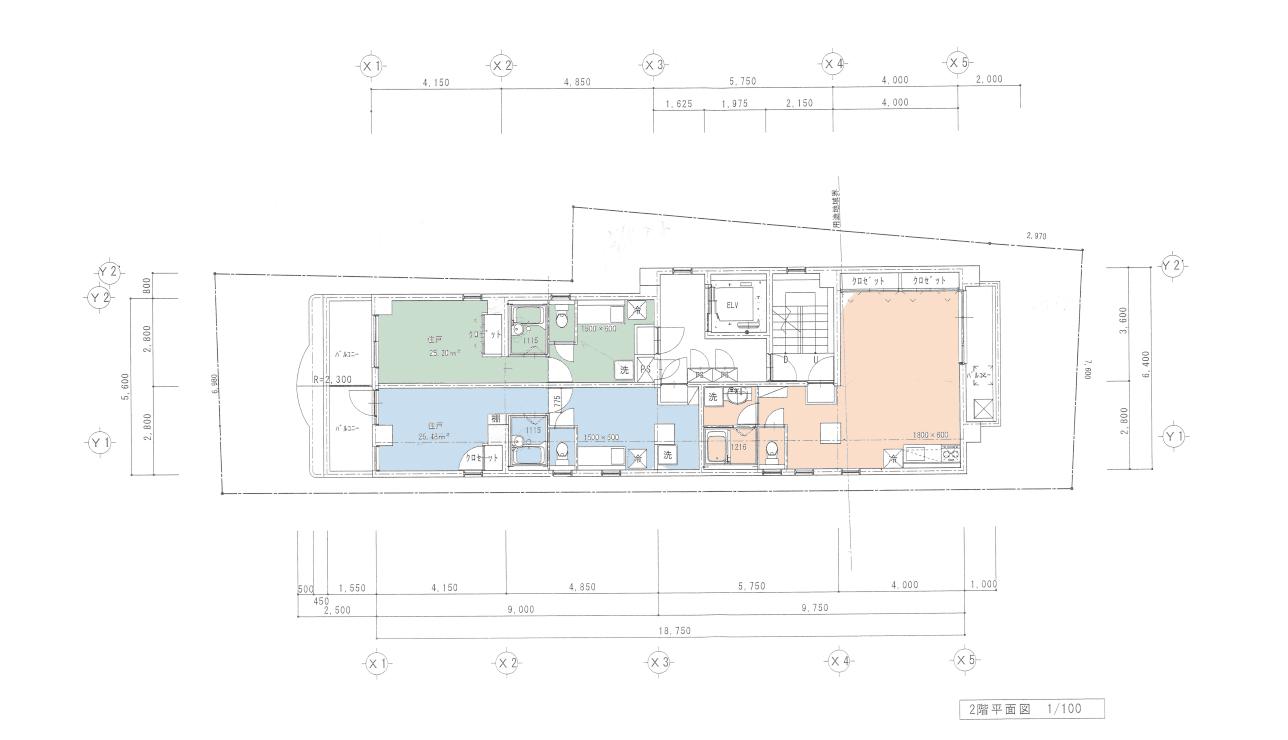 代沢2丁目新築計画の設計図 プロトタイプ1