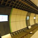 新しくなった小田急線の下北沢駅ホーム