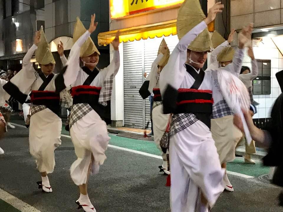 心躍る祭囃子、「下北沢一番街 阿波おどり」初日