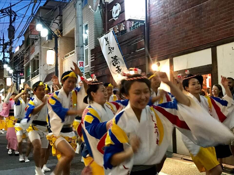 夏の風物詩「下北沢一番街阿波おどり」8/17・18開催