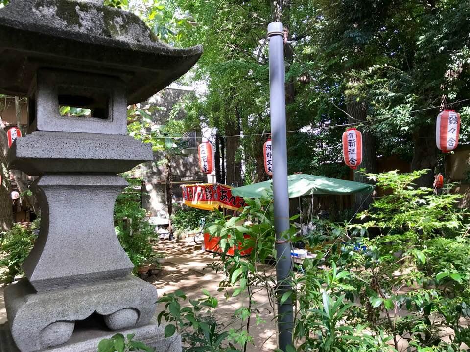 秋を感じる宵宮の灯、今週末は大原稲荷神社の大祭です