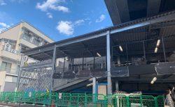 昭和信用金庫となりに駐輪場「京王サイクルパーク下北沢」拡張建設中