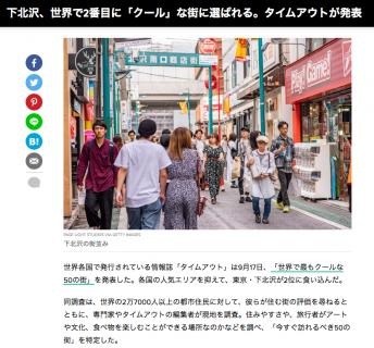 世界で2番目にクールな街、下北沢