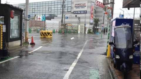 台風直撃!?2016年8月22日 下北沢