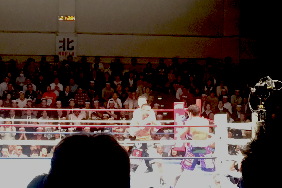 後楽園ホールでボクシング観戦