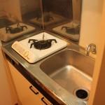 下北沢の賃貸マンション、MOYビル201号室のキッチン。
