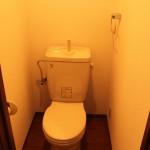 下北沢の賃貸マンション、MOYビル201号室のトイレ。