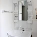 大きさ・デザイン・設備を兼ね備えた独立洗面台。