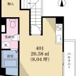 26.58平米(間取)