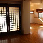 間仕切りを使えば空間を洋室とリビングに分断できます。(内装)