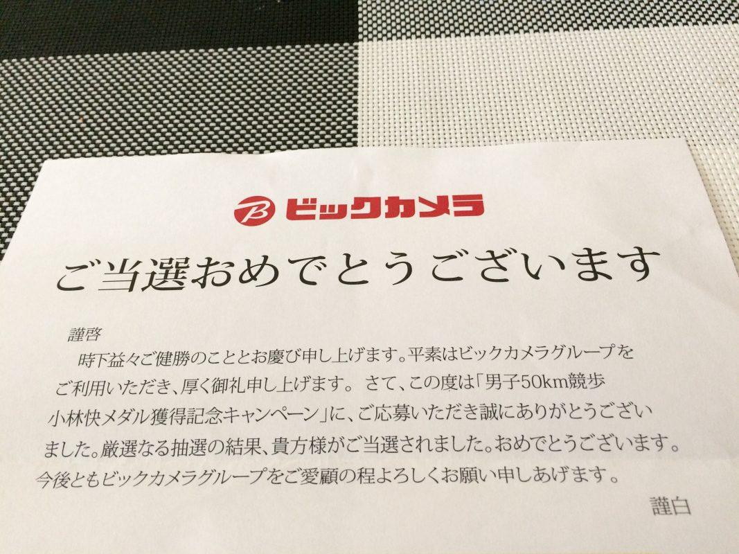 ビックカメラのギフトプレゼント抽選に当選! | タイトル未定。