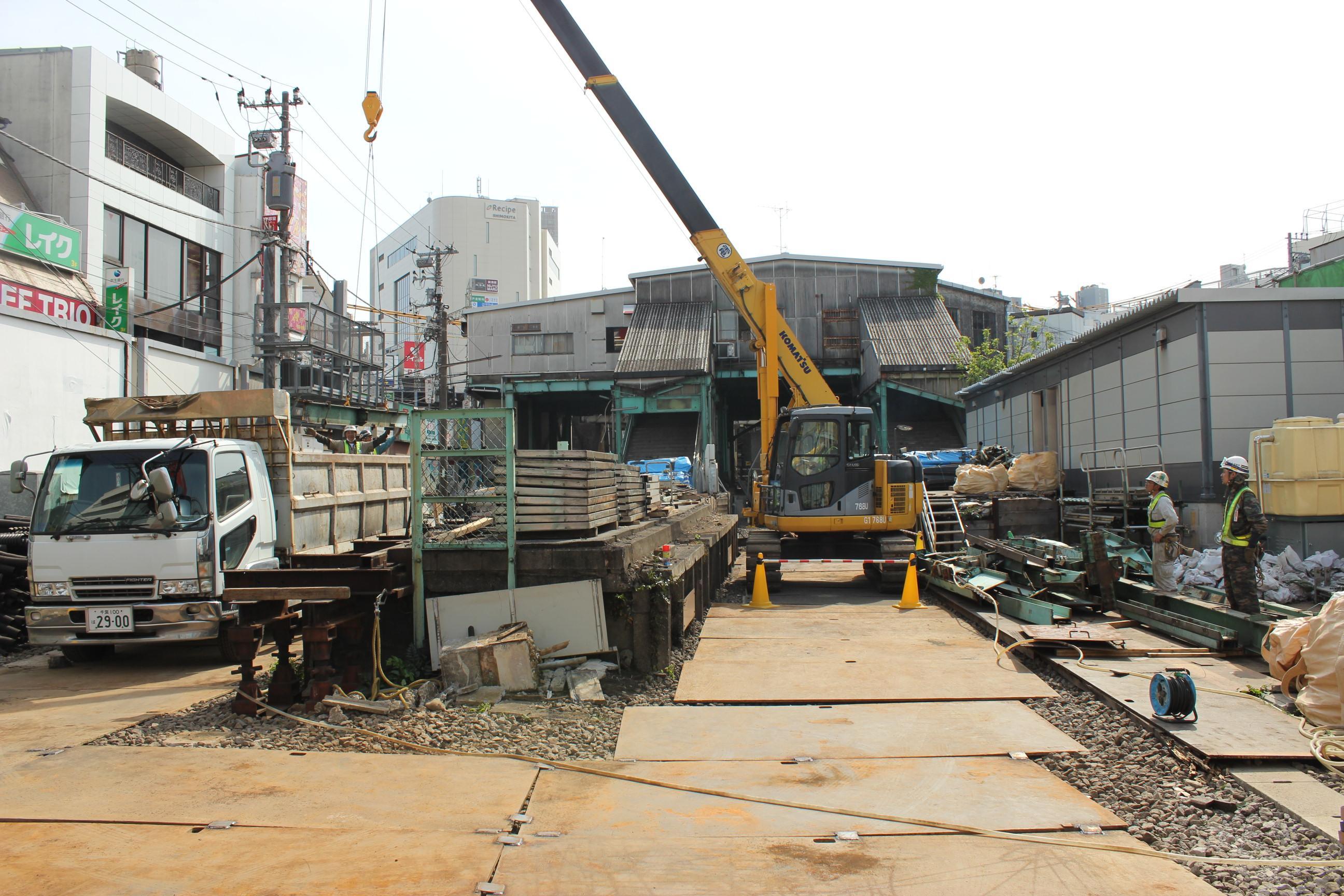 下北沢の旧駅舎がついに解体