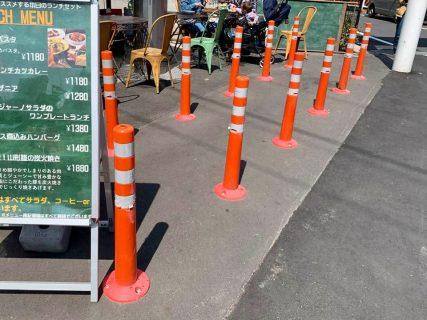 交通量の増加で際立つ、一番街栄通り入口のソフトコーン