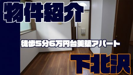 【動画】下北沢徒歩5分ペット可で大型収納があって6万円台のアパート