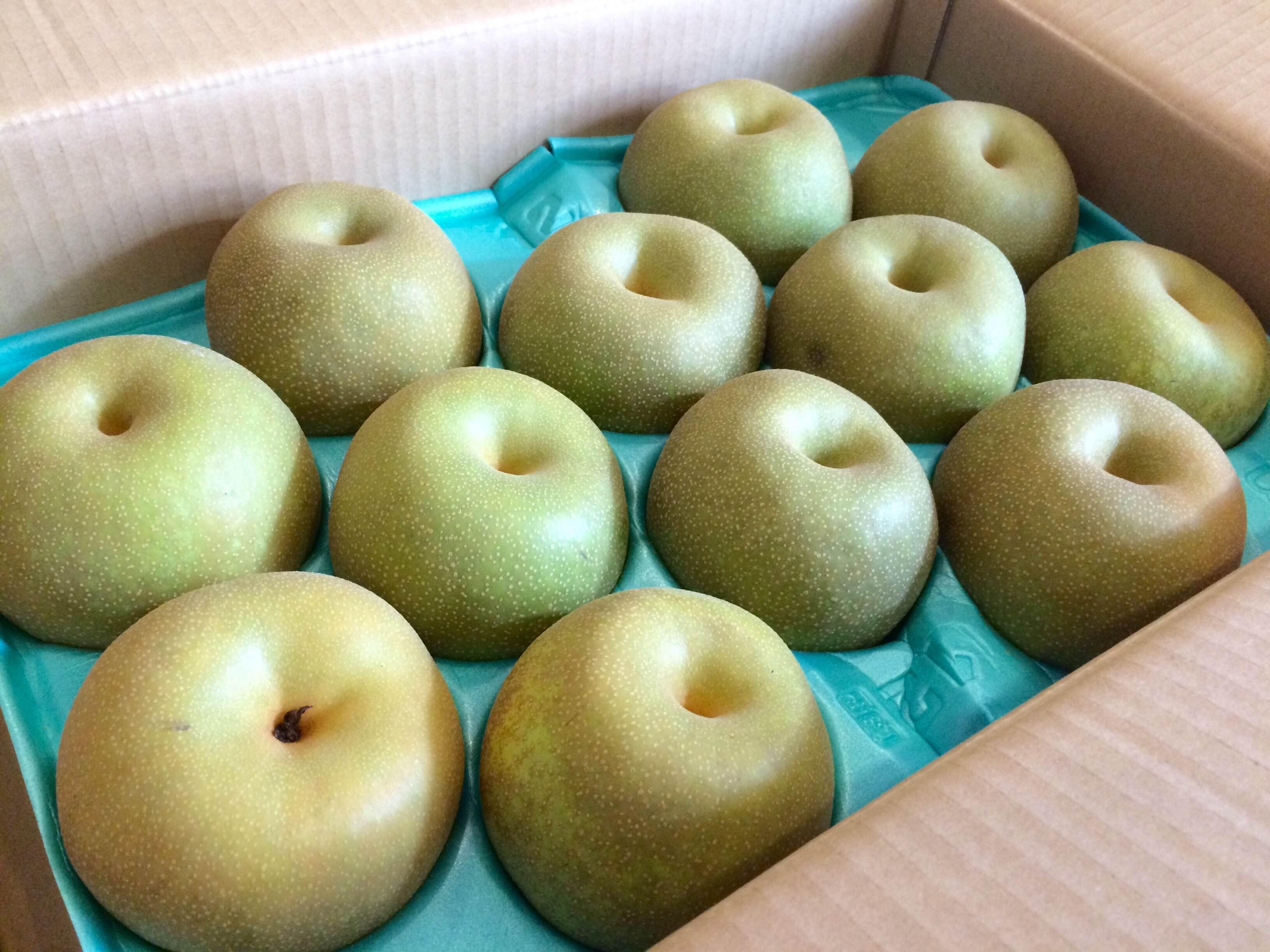 実家から梨が届きました