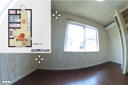 シュトラーセ 201号室 360°パノラマ写真