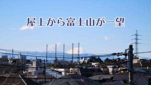 前田マンション 302号室 ベランダからの眺望 富士山、西新宿ビル街見えます