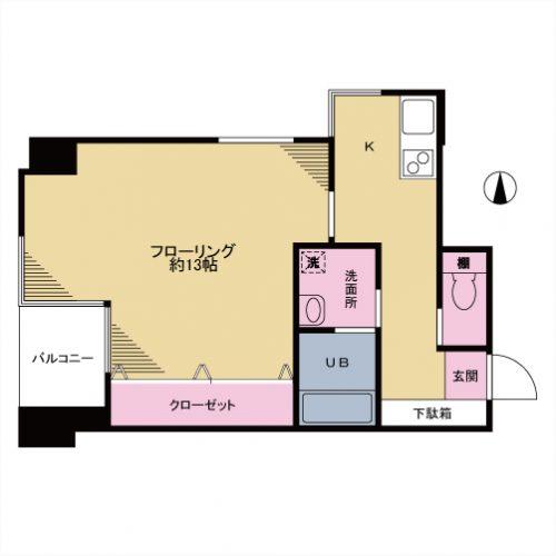 守山マンション 301号室